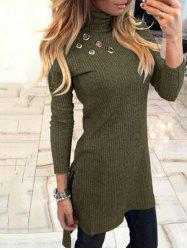 Turtleneck High Low Sweater Dress -