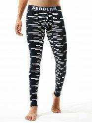 Graphic Stripe Print U Pouch Gym Pants -