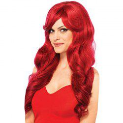 Perruque synthétique longue partie Side Bang Bang Loose Wave -