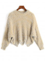 Zigzag Hem Chunky Knit Sweater -