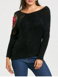 Hollow Out Embroidered Sweater -