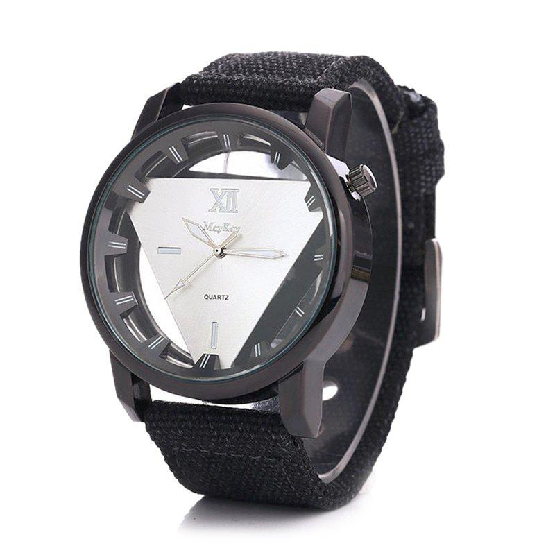 Buy Canvas Strap Triangle Shape Hollow Out Watch