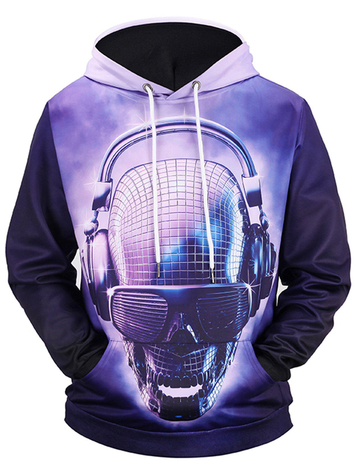 Affordable Pullover Skull Robot 3D Print Hoodie