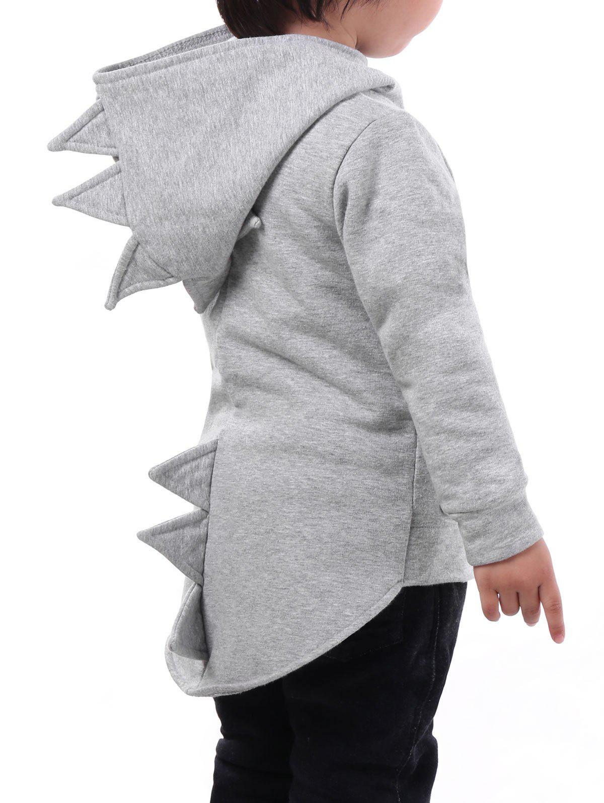 Best High-low Hem Boys Dinosaur Zip Hoodie