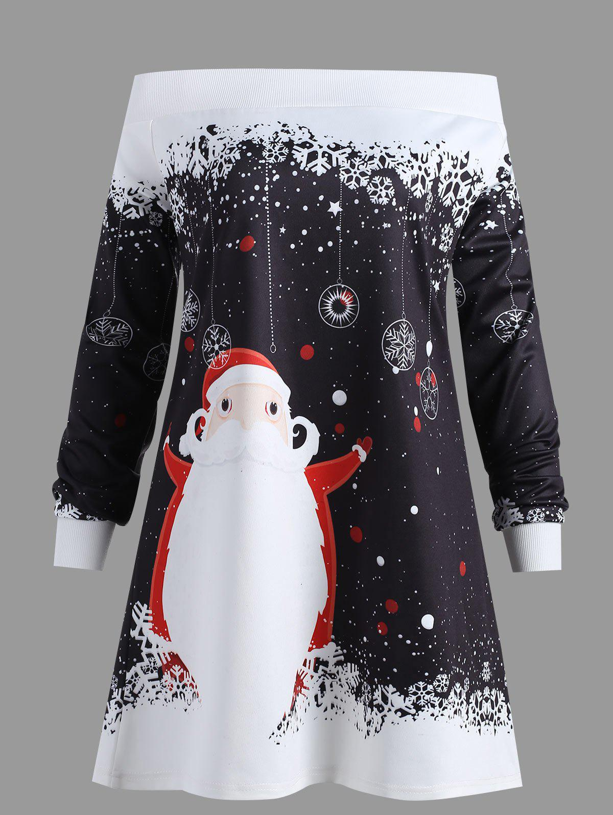 Sale Christmas Santa Claus Printed Plus Size Sweatshirt