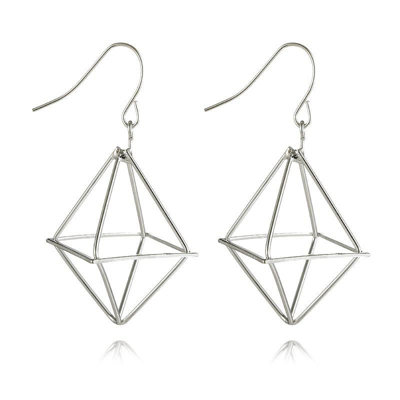 Shops Geometric Metal Drop Earrings
