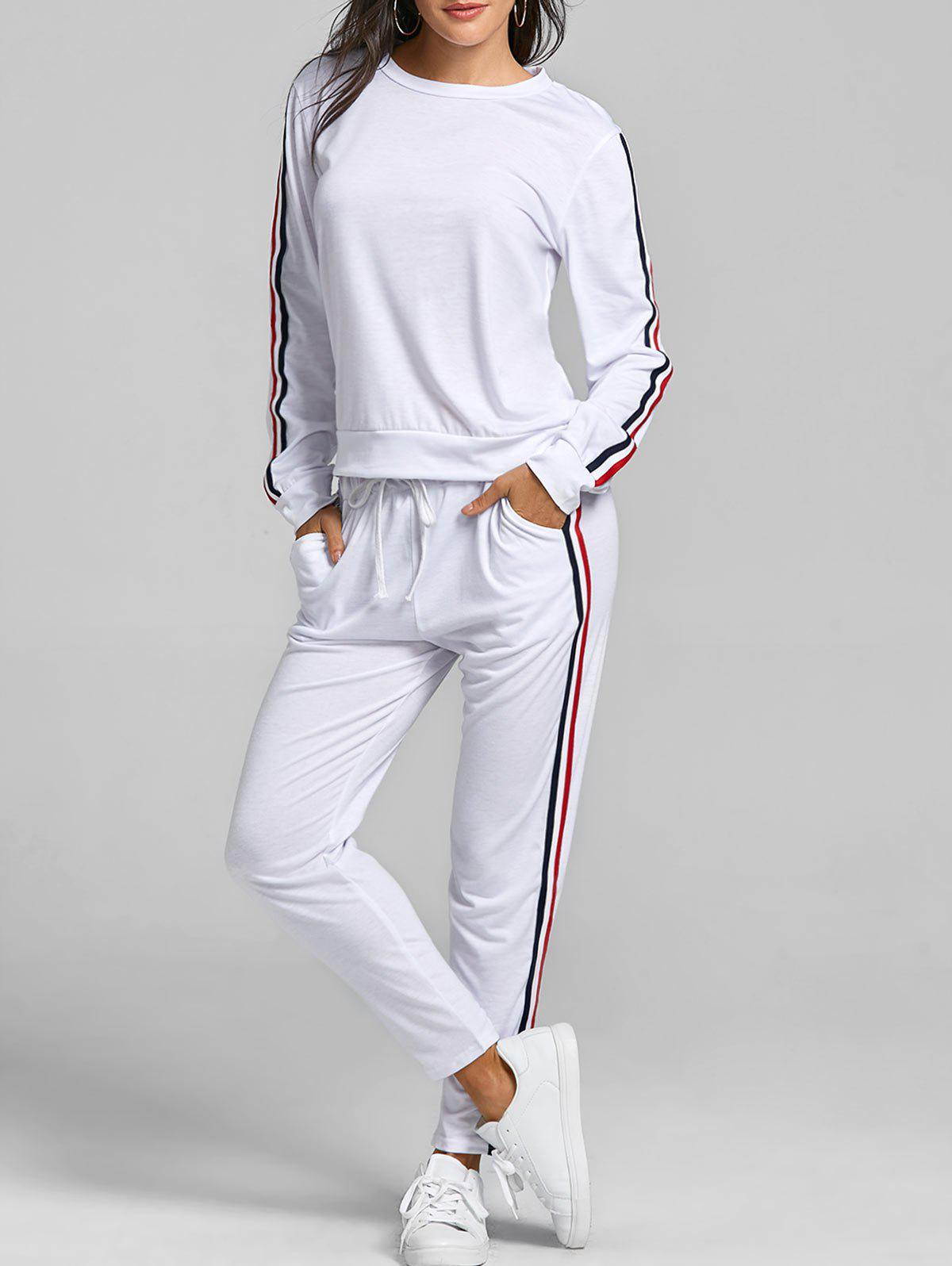 Cheap Striped Sweat Suits