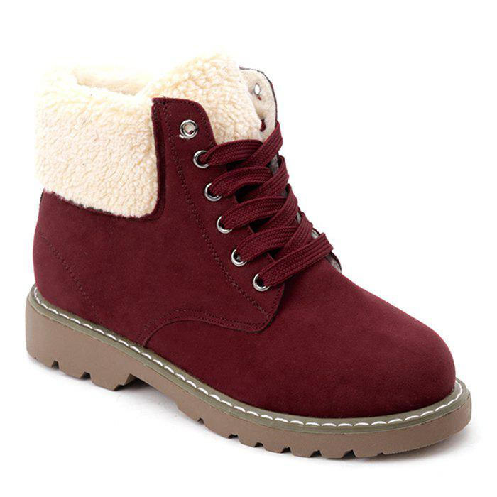 Outfit Faux Shearling Fold Over Ankle Boots