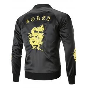 Dragon Embroidered Bomber Jacket -