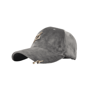 Outdoor Metal Bar Decorated Adjustable Baseball Hat -