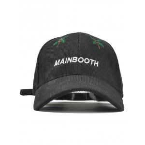 Ourdoor MAINBOOTH Embroidery Adjustable Corduroy Baseball Hat -