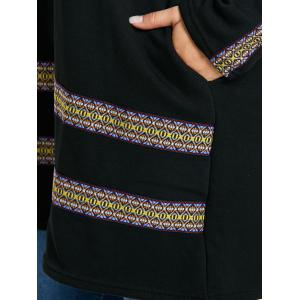Plus Size Print Insert Tunic Top -