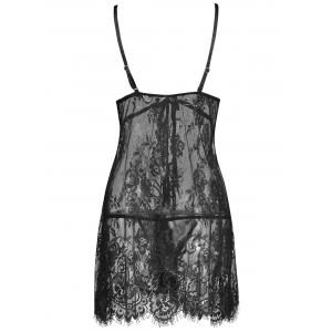 Lingerie Lace See Thru Slip Babydoll -