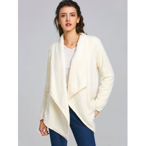 Furry Drape Front Jacket -
