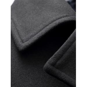 Double Breasted Woolen Padded Coat -