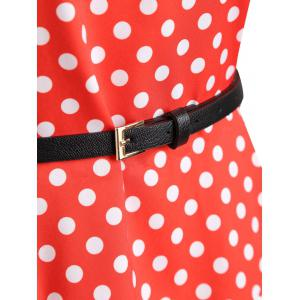 Plus Size Color Block Polka Dot Vintage Gown Dress -