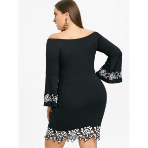 Plus Size Off The Shoulder Mini Bodycon Dress -