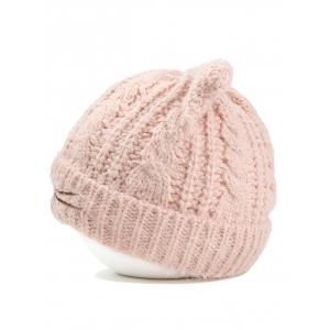 Cute Kitty Ear Embellished Crochet Knitted Beanie -