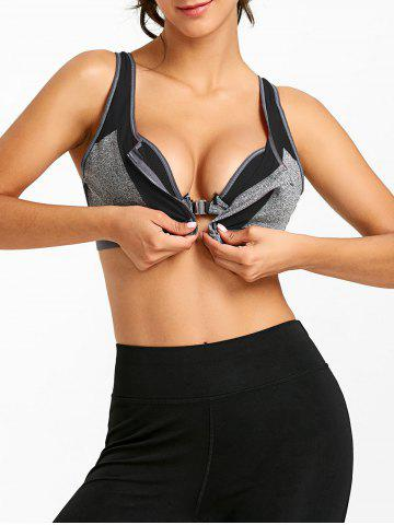 Спортивный цветной блок Zip Up Racerback Bra