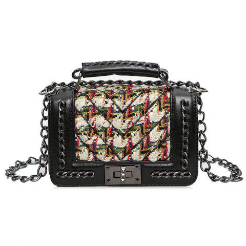 Best Chain Color Block Splicing Crossbody Bag