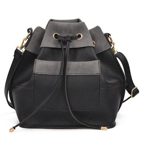 Chic PU Leather Multi Function String Crossbody Bag