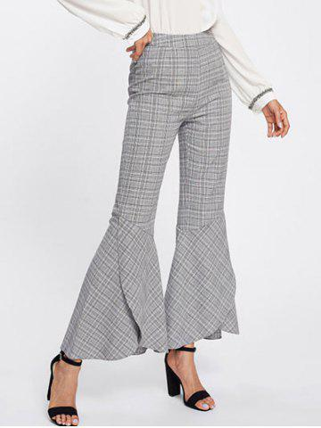 Fancy Plaid Bell Bottom Pants
