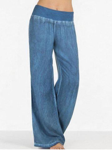Affordable Elastic Waist Wide Leg Jeans