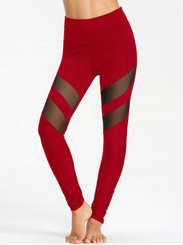 Outfits High Waist Workout Leggings With Mesh Panel