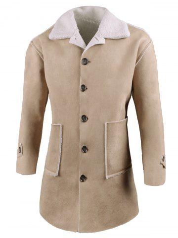 Outfits Front Pockets Single Breasted Faux Sheepskin Coat