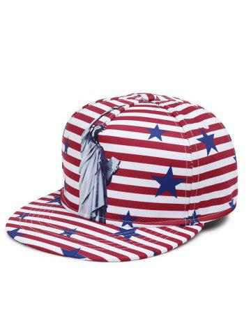 Outfits Outdoor Statue of Liberty Pattern Decoration Snapback Hat