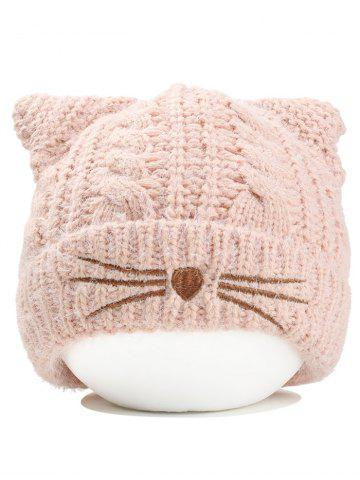 Discount Cute Kitty Ear Embellished Crochet Knitted Beanie