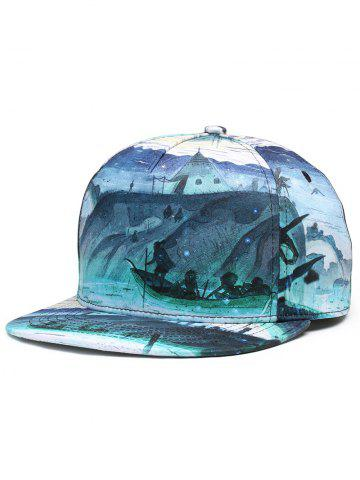 Shop Outdoor Marine Theme Flat Baseball Hat