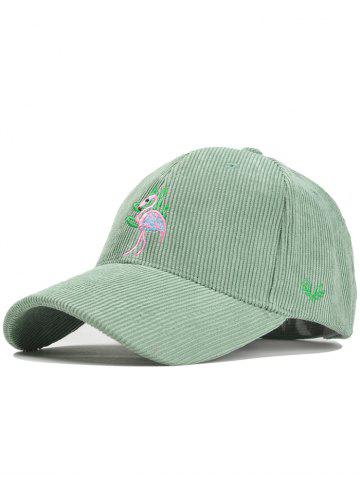 New Phoenix Bird Embroidery Adjustable Corduroy Baseball Hat