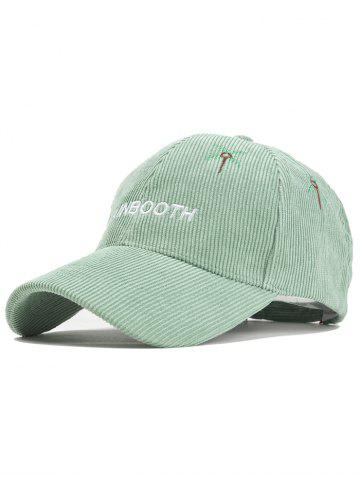 Chic Ourdoor MAINBOOTH Embroidery Adjustable Corduroy Baseball Hat