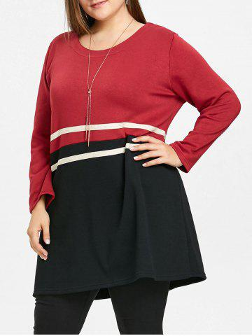 Fancy Casual Plus Size Striped Tunic Top