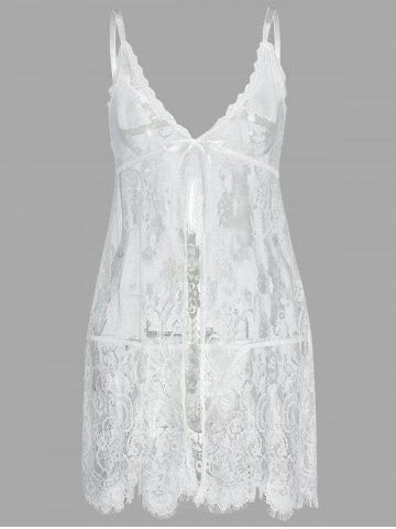 Outfit Lingerie Lace See Thru Slip Babydoll
