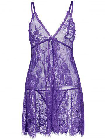 Lingerie Lace See Thru Slip Babydoll