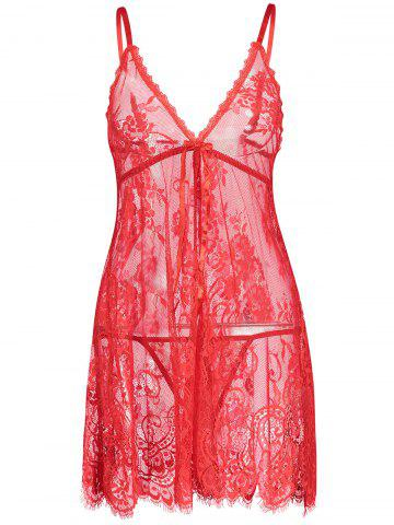 Affordable Lingerie Lace See Thru Slip Babydoll