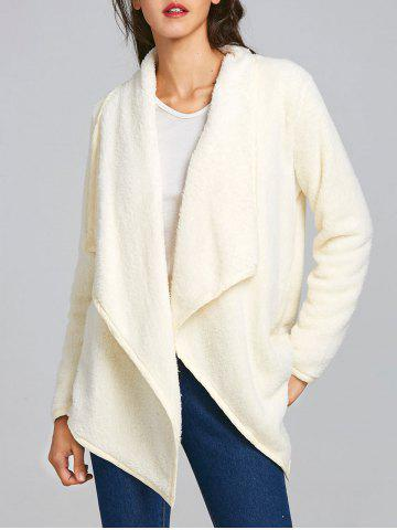 Fashion Furry Drape Front Jacket
