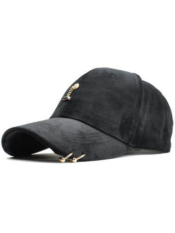 Online Vintage Metal Bar and Rings Embellished Baseball Hat
