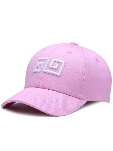 Outfit Outdoor Geometric Pattern Embroidery Adjustable Baseball Hat