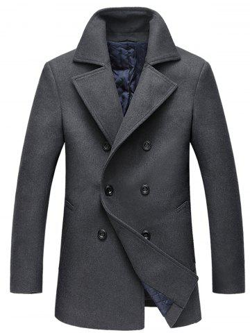 Unique Double Breasted Woolen Padded Coat
