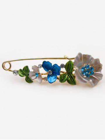 Best Flower Faux Diamond Brooch Pin