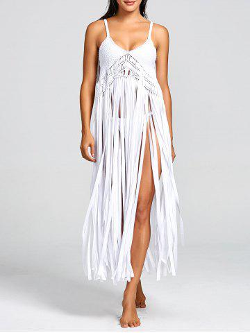 Fashion Fringed Crochet Knit Cover-up with G-string