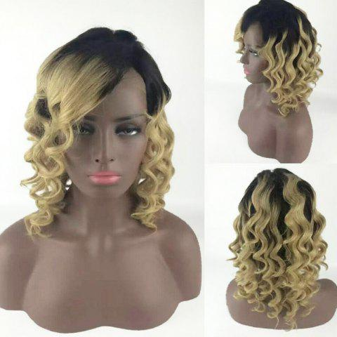 New Medium Side Bang Body Wave Colormix Synthetic Wig