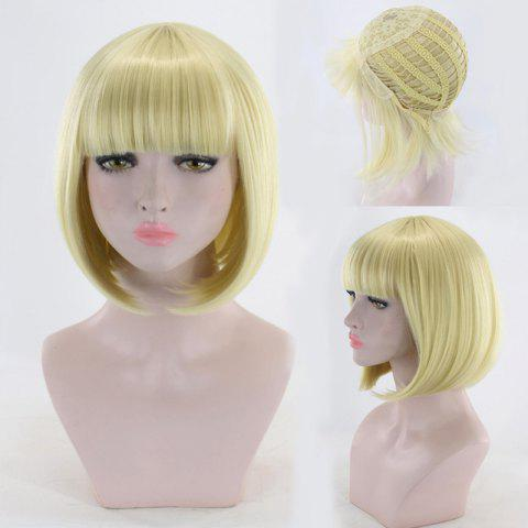 Trendy Short Neat Bang Straight Bob Cosplay Synthetic Wig