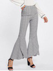 Plaid Bell Bottom Pants -