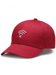 WIFI No Signal Embroidery Decoration Sunscreen Hat -