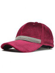 Outdoor Beaded Chain Embellished Adjustable Baseball Hat -