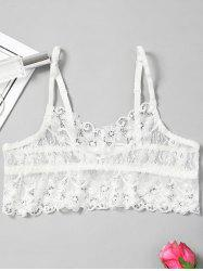 See Through Lace Bralette Top -